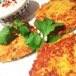 Cauliflower, walnut and chickpea fritters